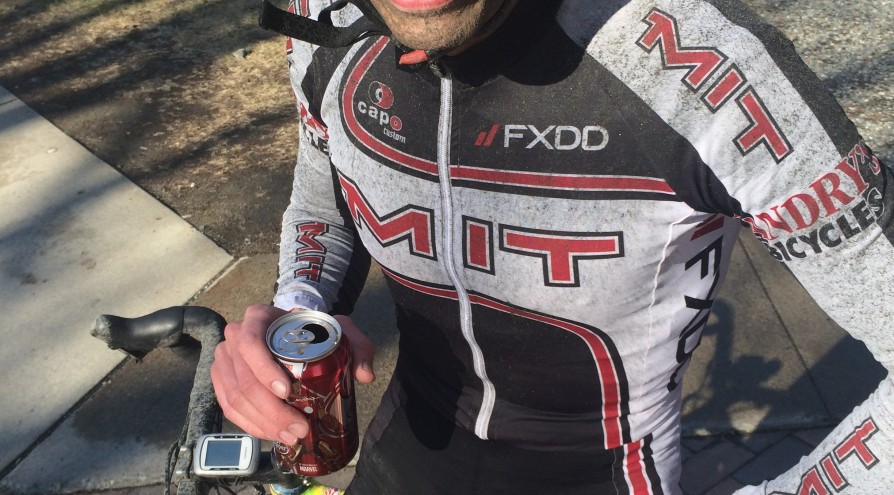 Joe after the Frat Row crit at Dartmouth, his signature Dr. Pepper in hand.